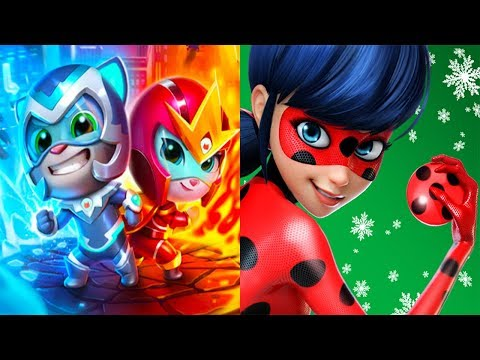Talking Tom Hero Dash VS Miraculous Ladybug & Cat Noir