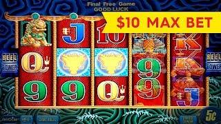 5 Dragons Slot - $10 Max Bet - BIG WIN BONUS!