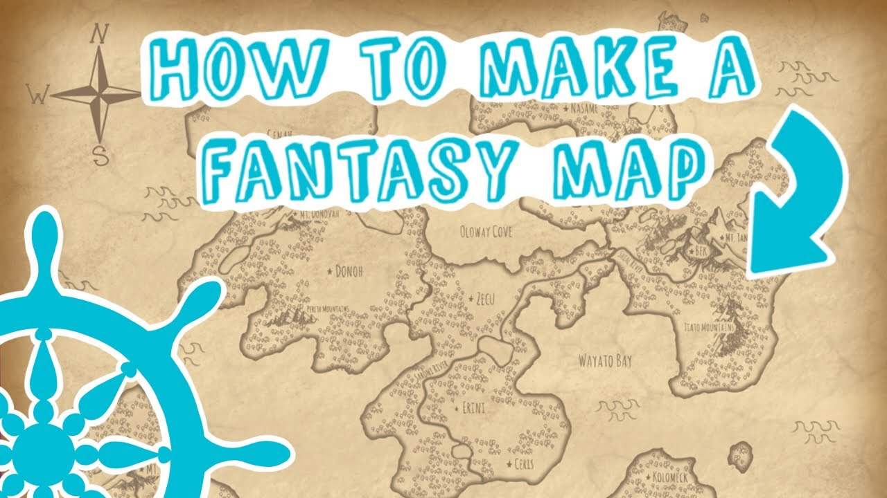 Creating A Fantasy World Map How to MAKE and DESIGN a fantasy world map   YouTube
