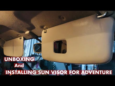 UNBOXING AND INSTALLING SUN VISOR FOR MITSUBISHI ADVENTURE| DIY HOW TO INSTALL SUN VISOR