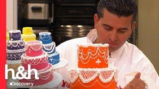 45 minutos para decorar um bolo de casamento   Batalha dos Confeiteiros   Discovery H&H Brasil