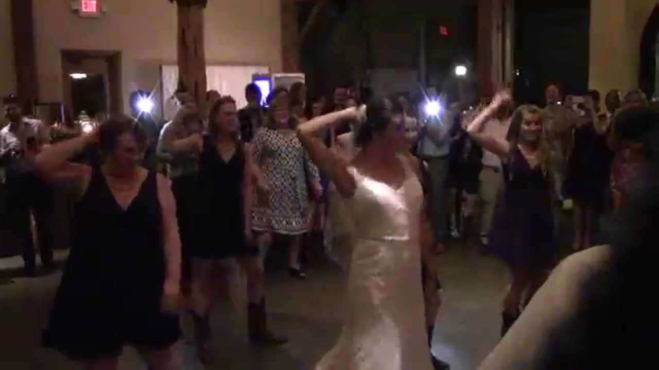 Surprise Wedding Flash Mob Country Line Dance 8 28 15