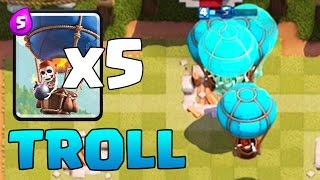 BALLOON HORDE TROLL DECK | Clash Royale | Mirror Cloned Balloons