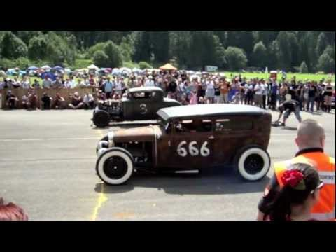 Hangar Rockin 2012 St. Stephan Schweiz Vol. 1 - 1/8 Mile Show Drag-Race - Hot Rods, Bikes & more