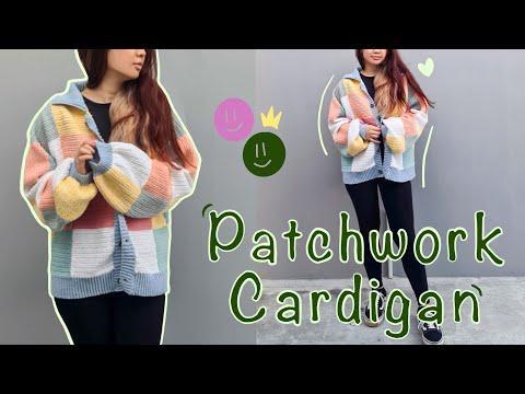 Crocheting Patchwork Cardigan   Beginner Crocheter   Harry Styles Cardigan Inspired - YouTube