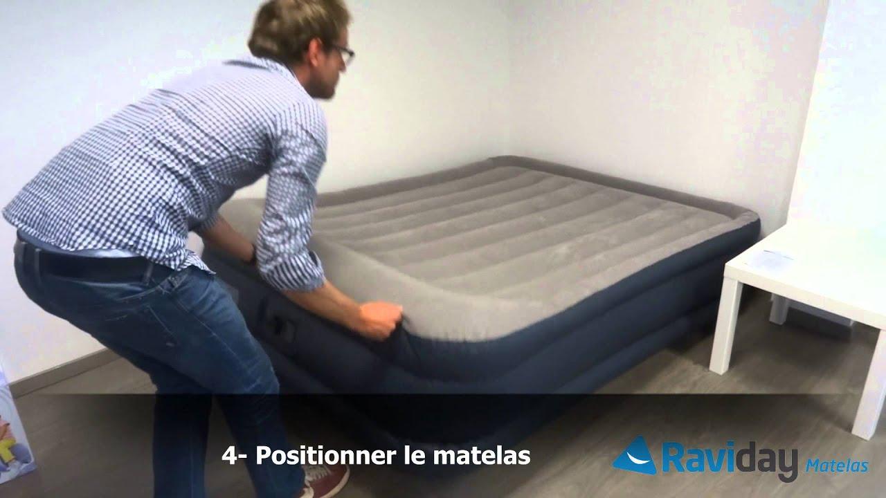 matelas intex rest bed deluxe 67732 67738 youtube. Black Bedroom Furniture Sets. Home Design Ideas