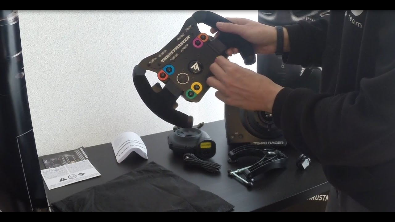 thrustmaster ts pc racer unboxing test youtube. Black Bedroom Furniture Sets. Home Design Ideas