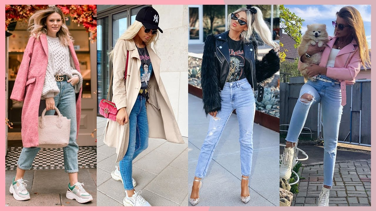 Outfits Con Jeans 2020 2021 Casuales Y Elegantes Moda Otono Invierno Mujer Juvenil Youtube