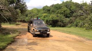 Water crossing 4wd at wilpattu national park