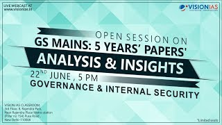 GS Mains: 5 Years' Papers | Analysis & Insights | Governance & Internal Security