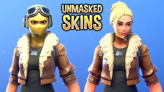 I removed the Masks on My Fortnite Skins and they looked like this..!