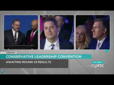 Andrew Scheer Wins Leadership Of The Conservative Party Of Canada