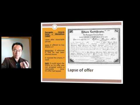 Law of Contract (E-Learning) Part 1