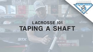 Taping A Lacrosse Shaft