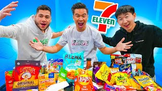 Trying 7-Eleven snacks! Ft Moochie Trav & Efron