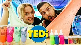 TEDI SLIME CHALLENGE - Nina & Kaan machen mit TEDI ZUTATEN Schleim - After Eight VS Partykracher