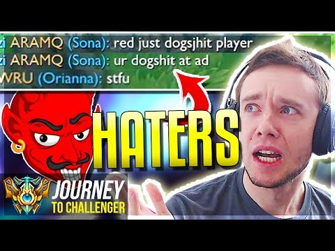 BIGGEST HATERS IVE SEEN CHALLY PLZ - Journey To Challenger  League of Legends