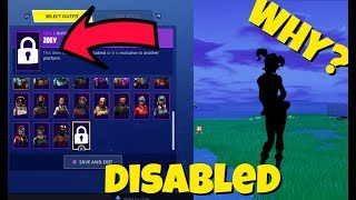 WHY THE ZOEY SKIN IS DISABLED IN FORTNITE
