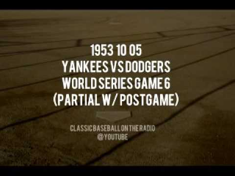 1953 10 05 World Series Game 6 Partial With Postgame Yankees vs Dodgers