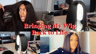 BRINGING MY OLD WIG BACK TO LIFE | HOW TO : BLUNT CUT BOB