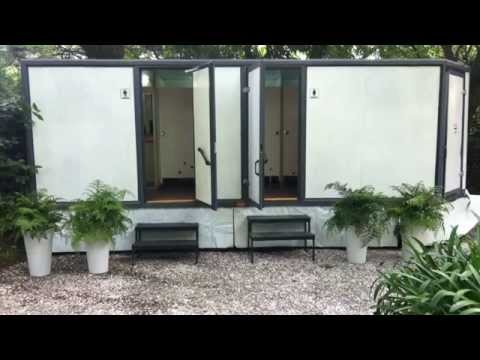 Blanc luxe remolque de 10 ba os port tiles de lujo youtube - Banos de lujo modernos ...