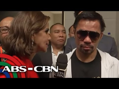 Pacquiao talks to ABS-CBN News after defeating Thurman | 21 July 2019