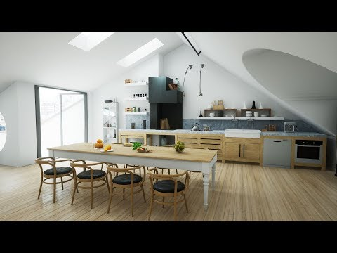Realtime ArchViz Interactive Loft Apartment UE4  | Darul Solutions (Download)