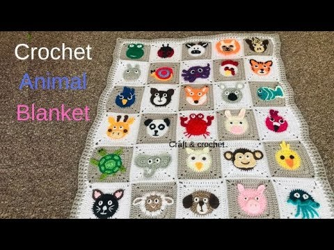 Crochet animal blanket/crochet baby
