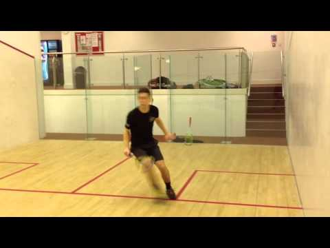 England Squash Player Training Footwork Drill
