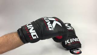 King Pro Boxing Boxing Gloves black red
