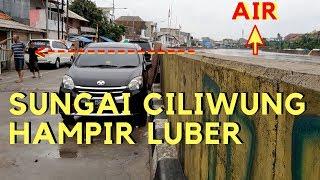 Jakarta Siaga Banjir Besar, Air Sungai Ciliwung Hampir Luber Lebih Tinggi Dari Jalanan #normalisasi