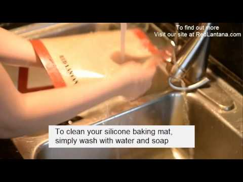 how to clean silicone baking mat youtube. Black Bedroom Furniture Sets. Home Design Ideas