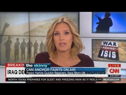 CNN Anchor Poppy Harlow Faints During Live Broadcast | ABC News