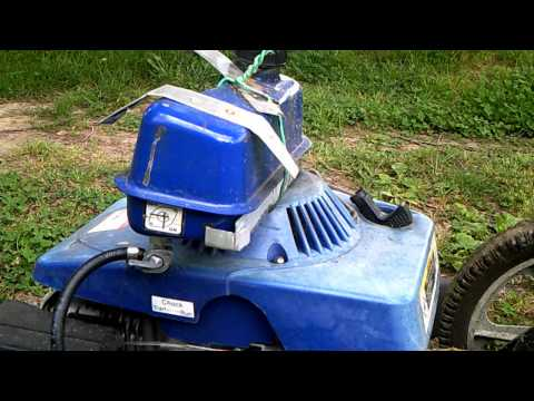 Rigged-up Harbor Freight Lawn Mower