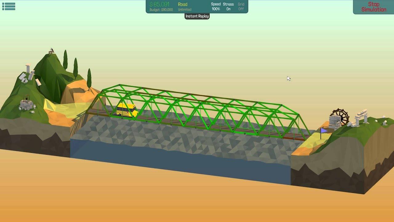 poly bridge solution 36m steel arch bridge 4 12 youtube. Black Bedroom Furniture Sets. Home Design Ideas