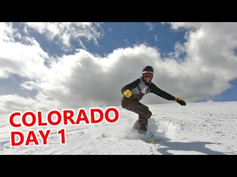 First Day Snowboarding in Colorado