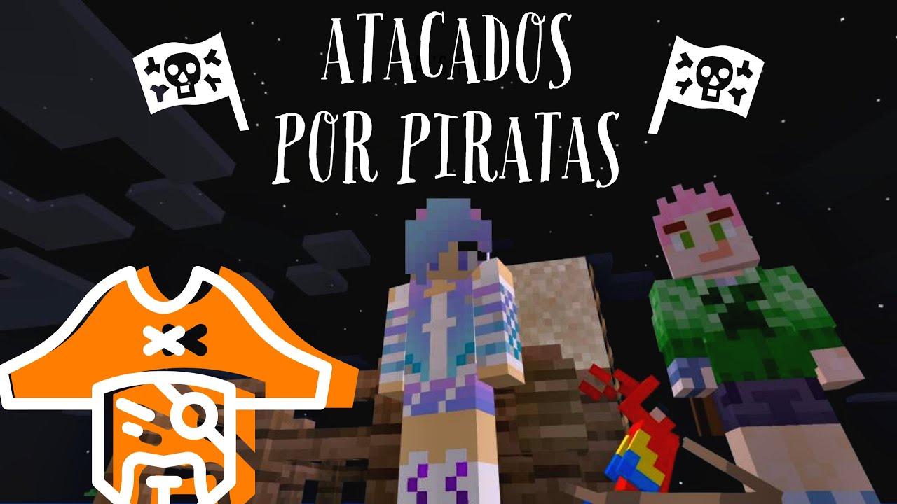 FOMOS ATACADOS POR PIRATAS NO MINECRAFT (Fish and sheeps)