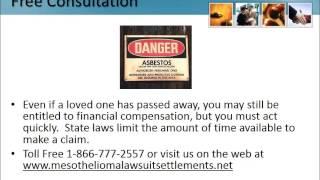 Mesothelioma Class Action Lawsuit Texas 1-866-777-2557 Asbestos Class Action Lung Cancer