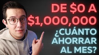 ¿Cuánto debes ahorrar al mes para juntar 1 MILLÓN DE PESOS?