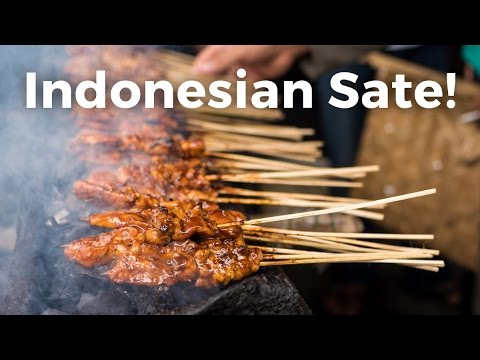 Indonesian Sate (Satay) - AMAZING Indonesian Street Food in