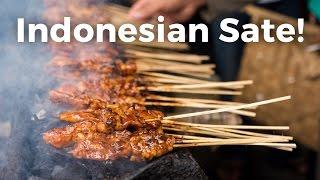 indonesian sate satay amazing indonesian street food in jakarta