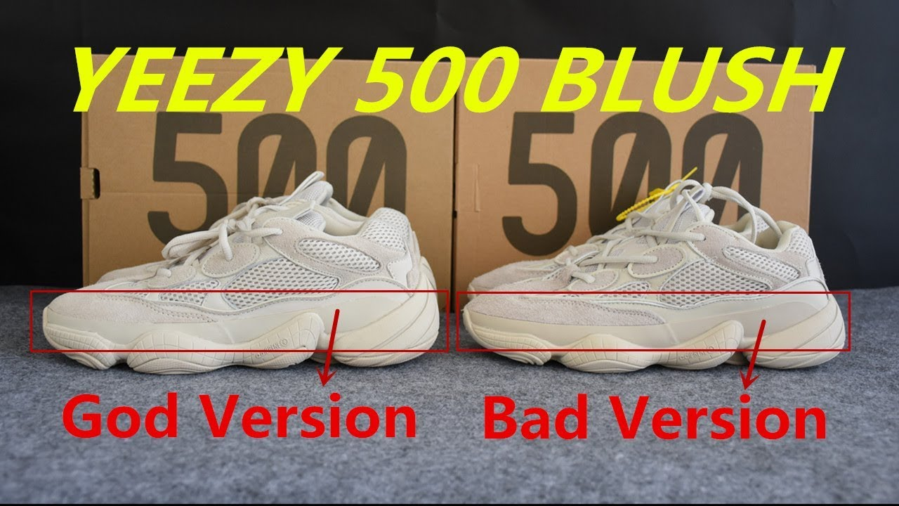 the latest 6dd1a 05f51 How to Tell Fake Yeezy 500 Blush?Check the Comparison!