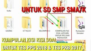 Bocoran Soal Latihan Tes Ppg Reguler Dalam Jabatan Lengkap Untuk Sd - Smp - Sma - Smk