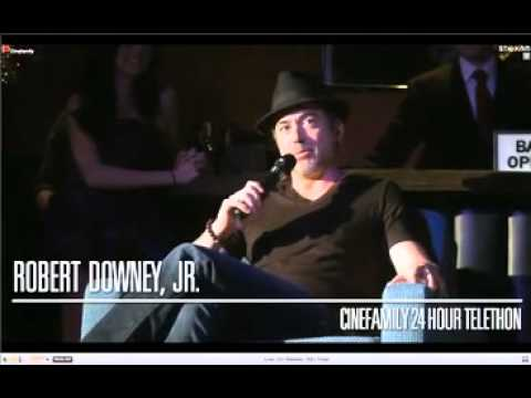 Robert Downey Jr. on the Telethon 2012 'The Cinefamily'. Part 2
