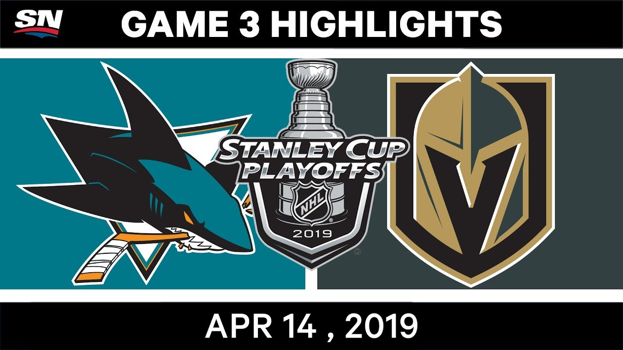 NHL Highlights | Sharks vs Golden Knights, Game 3 – April 14, 2019