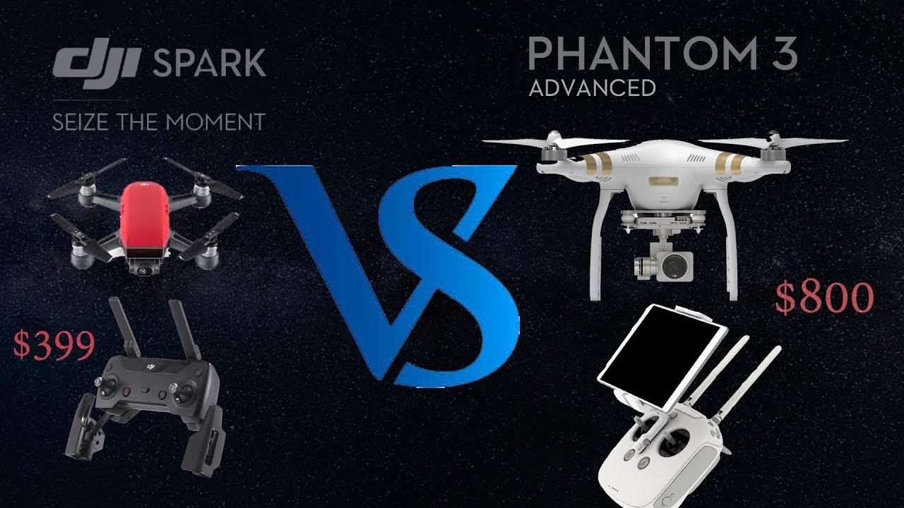 28d130a4e96 800 drone vs $399 drone (Dji phatom VS Dji spark) - YouTube
