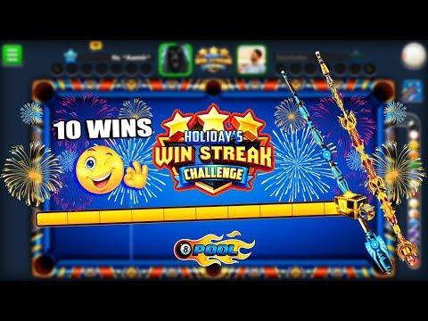 I WON THE HOLIDAY WIN STREAK CHAMPIONSHIP IN 8 BALL POOL (10 win streak)