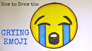 How to Draw the Crying Emoji - For Beginners