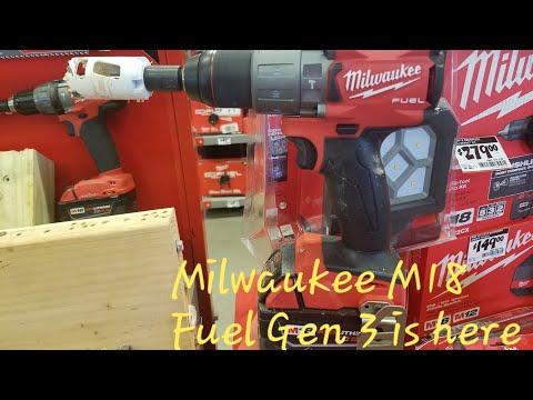 Home Depot Live !!! PART 1 ..Milwaukee M18 Gen3 Fuel Hammer Drill