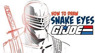 GI JOE artist shows how to draw SNAKE EYES